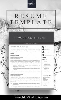 Proffesional Resume Piniskra Studio On Resume Templates  Pinterest  Professional .