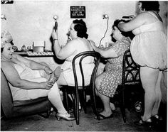 """Vintage photo. Oh, that's right this must be photoshopped since fat people and the """"obesity epidemic"""" didn't just occur until the last few decades."""