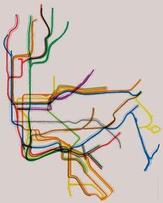 New York City Subway Gallery Wrap Canvas - 12x16. $105.00, via Etsy.