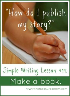 Free printable homemade book for kids: Part of a simple writing lesson
