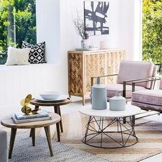 Living room love! Our Janda buffet, Klein coffee table in marble / brass, Raw side table & Robert side table as featured in the dream reno by @threebirdsrenovations as featured in @adoremagazine #ozdesignfurniture #living #threebirdsrenovations #home #modernhamptons #interiors #style #design #trend #homeinspo #interiordesign #FF #design #tagforlikes #home
