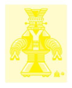 Y-boto, #3 in the CMYK-bot series.