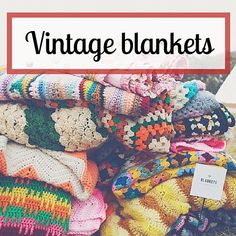 Vintage crochet blankets (photo source: Bluebird), an inspiration!!   Happy in Red