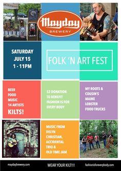 @MaydayBrewery Folk 'n Art Fest #local #murfreesboro #Tennessee #buy #buylocal #fun #summer #smallbusiness #event