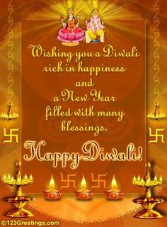 Wish everyone a Diwali filled with happiness and a New Year filled with many blessings. Free online Blessings And Happiness ecards on Diwali Happy Diwali Status, Happy Diwali Images Hd, Happy Diwali Pictures, Diwali Cards, Diwali Greeting Cards, Diwali Greetings, Diwali Wishes Quotes, Happy Diwali Quotes, Shubh Diwali