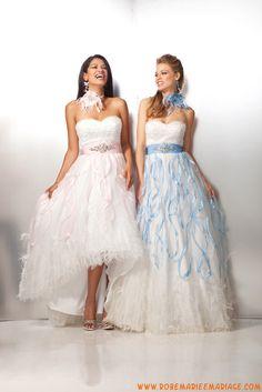 Sans bretelle col en cœur cristaux plumes organza robe de soirée 2013 glamour
