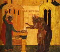 São Teodoro de Heracléia destrói ídolos de ouro e prata e entrega os pedaços aos pobres.