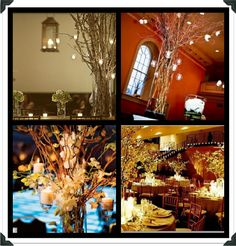 Branch centerpieces - my favorite is the one in the lower left hand corner