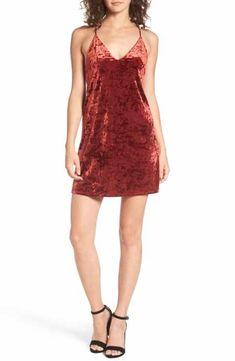 Privacy Please Raymore Crushed Velvet Minidress