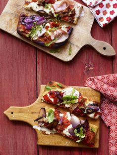 Grilled Everything Pizza  Instead of baking pizza dough to get a crispy crust, try grilling it with step-by-step directions from Food Network Magazine.