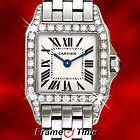 CARTIER -- Cartier Lady Santos Demoiselle Diamond Stainless Steel White Face Watch W25064Z5 $4,699.99 More Info: http://www.diamondsandgemstones.net/cartier/#