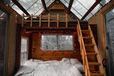 Hampshire House, New Hampshire, Cabin Homes, Tiny Homes, Tiny Living, Living Spaces, Bedroom Inspiration, Bedroom Ideas, Honeymoon Cabin