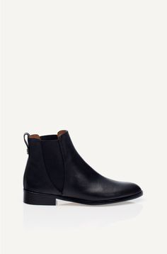 The perfect Chelsea boot / Massimo Dutti Flat Black Ankle Boot