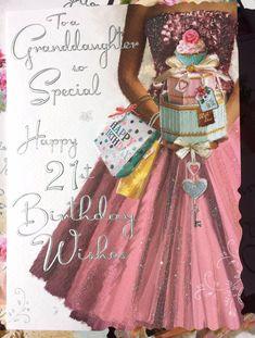 GBP - To A Granddaughter So Special, Happy Birthday Wishes. Happy 21st Birthday Wishes, Birthday Greetings, Birthday Board, Girl Birthday, African Prom Dresses, My Beautiful Daughter, Birthdays, Grandchildren, Grandkids