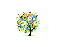 Colorful Tree wallpaper