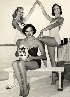 Models at the 1955 Orange Bowl