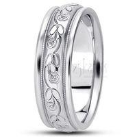 Refined Floral Carved Wedding Band #weddingband #ring #floral #25karats