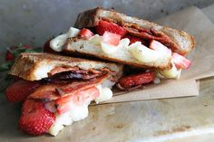 Brie, Bacon and Strawberry Grilled Cheese by Heather Christo, via Flickr