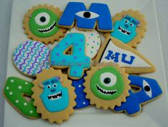 Custom Monster University Sugar Cookies by Calculated Cookies