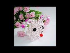 Собака / 水晶串珠 動物類飾品 兔子 款式1 - YouTube