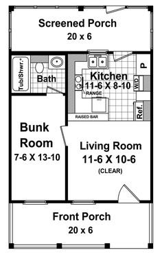 Small House Plans 400 Square Feet-Small House Floor Plans Under 400 Sq Ft Cottage Style House Plans, Cottage Style Homes, Cottage Design, Small House Plans, House Floor Plans, House Design, Cottage Ideas, Cottage Plan, Garden Cottage