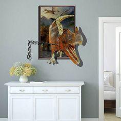 3D Dinosaurs Through Jurassic Park Cartoon Colorful Wall Sticker Quote Decal // ebay shop:http://stores.ebay.com/leyintzonline