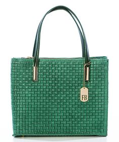 Look what I found on #zulily! Green Suede Woven Tote #zulilyfinds