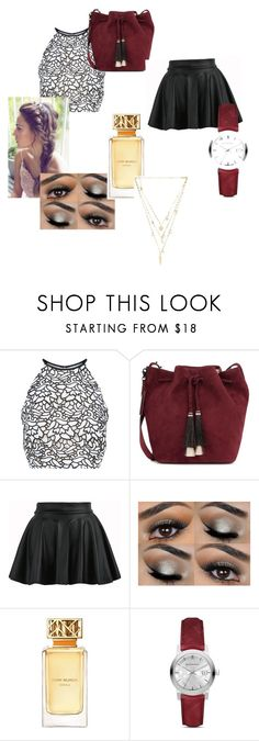 """""""Tic - Tock by the clock"""" by roni75 ❤ liked on Polyvore featuring Keepsake the Label, Loeffler Randall, Tory Burch, Burberry and Ettika"""