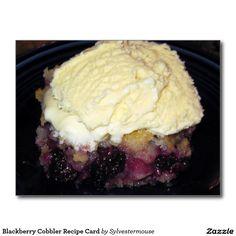 Blackberry Cobbler Recipe Card