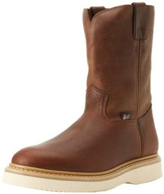 d16f8e24d2a8 Justin Original Work Boots Men s Premium   Light Duty Boot Round Toe Wedge  Outsole,Tan M US. Variation  Size- D(M) US.