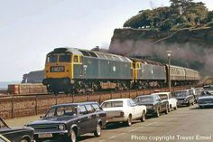 dawlish train - Google Search Electric Locomotive, Diesel Locomotive, Steam Locomotive, Train Pictures, British Rail, Electric Train, Old Trains, Rolling Stock, Model Train Layouts