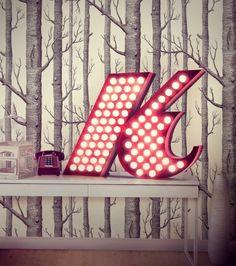 vintage floor lamps mid-century modern lighting unique lamps stilnovo lamps dining table Lamps´ vintage desk lamps brass sconces Deco Jungle, Stylish Letters, Neon Lamp, Deco Retro, Vase Design, Mid Century Modern Lighting, Light Letters, Letter K, Luminaire Design