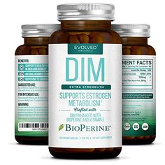 DIM with Vitamin E & BioPerine Is The Secret To Managing Excess EstrogenThis Amazing Supplement Is The Answer To Why We Eat Our VegetablesDIM short for Di-indolyl Methane is a powerful substance tha...