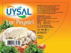uysal gıda kurumsal kimlik tasarımı kapsamında uysal markası lor peyniri etiket tasarımı & bobin etiket basımı
