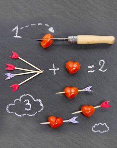 Carnet d'idées saint-valentin recette: cœurs de tomates: événement jardinerie Truffaut