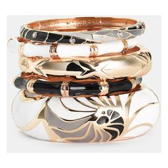 Sequin Bangles ❤ liked on Polyvore