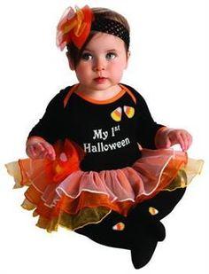 ToyHo.com - My First Halloween Candy Corn Tutu Onesie Costume Infant