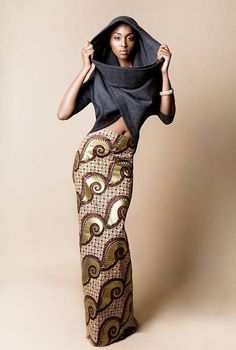 African print and denim
