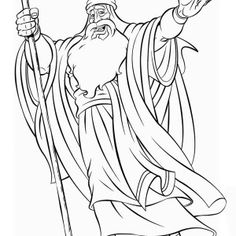moses death coloring pages - photo#15