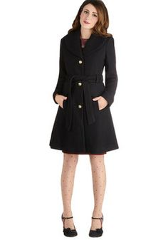 Early to Arrive Coat, #ModCloth  Yet another Sherlock coat