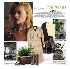 """Wear a Camel Coat!"" by thewondersoffashion ❤ liked on Polyvore featuring Baum und Pferdgarten, Alice + Olivia, Maison Margiela, Marni and Valentino"