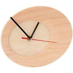 Reloj para decorar de madera ovalado 20 cm - Fotografía n°1