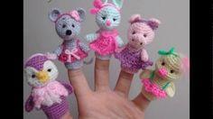 Titeres De Dedo tejidos a crochet