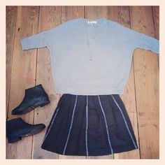 ace&jig boxpleat mini in black hole at Conifer Shop
