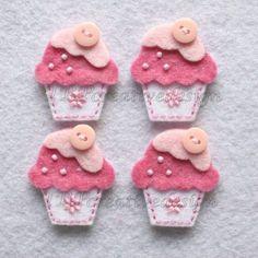 Handmade Cupcake Felt Applique Double by TRPcreativedesign01. $4.00, via Etsy.