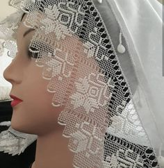 Image may contain: one or more people Crochet Bag Tutorials, Point Lace, Needle Lace, Crewel Embroidery, Filet Crochet, Baby Knitting Patterns, One Shoulder Wedding Dress, Diy And Crafts, Wedding Dresses