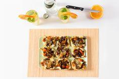 Kwadraciki ciasta francuskiego z mięsno-warzywnym nadzieniem #ciasto #francuskie #mięso #warzywa #FrenchPastry #meat #vegetables