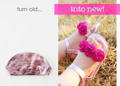 Cute baby shoes out of recycled materials!