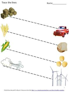 Farm Math and Literacy Tracing Activities Fine Motor Skills Tracing Worksheets, Kindergarten Worksheets, Preschool Kindergarten, Math Literacy, Literacy Centers, Zigzag Line, Butterfly Flowers, Fine Motor Skills, Special Education