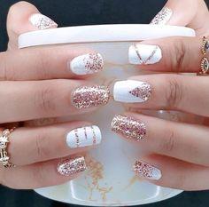 Nail Color Combos, Toe Nail Color, Color Street Nails, Nail Colors, Stylish Nails, Trendy Nails, Fancy Nails, Cute Nails, Ongles Or Rose